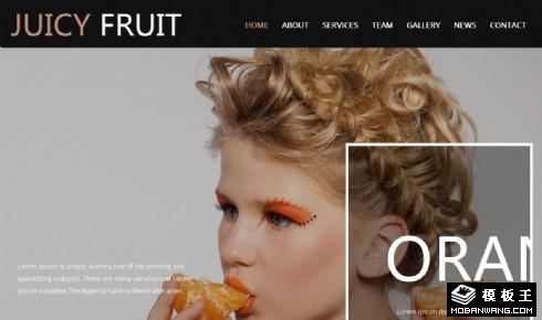 多汁水果响应式网页模板