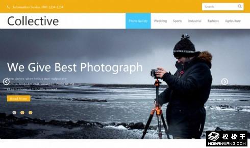 创意摄影团队展示响应式网页模板