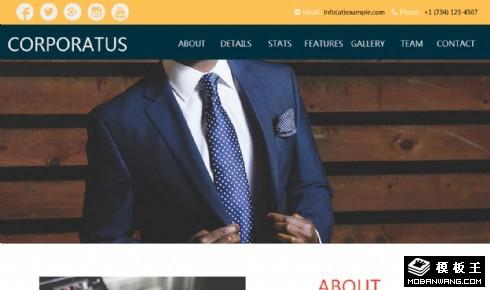 企业商务展示响应式网页模板