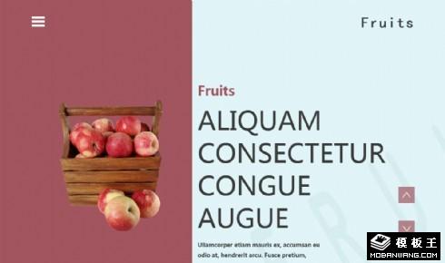 新鲜水果介绍响应式网页模板