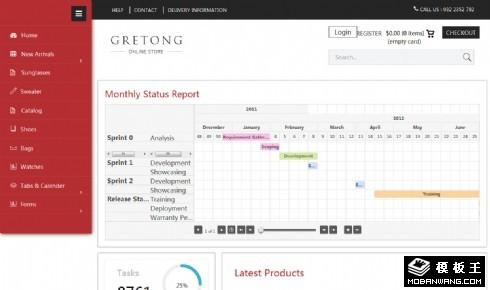 电商数据管理后台响应式网页模板