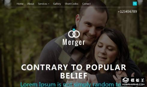 婚礼活动策划响应式网页模板