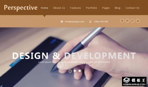 透视设计服务响应式网页模板