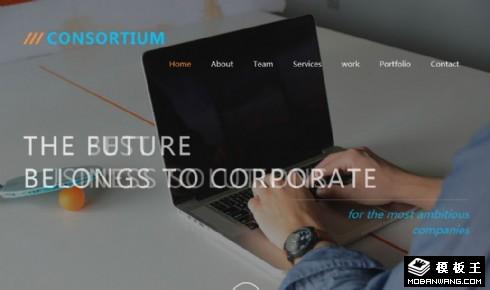 金融财团公司响应式网页模板