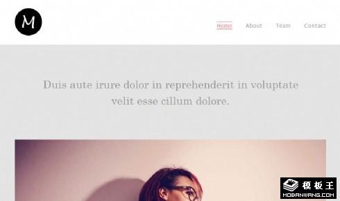 时尚设计团队响应式网页模板