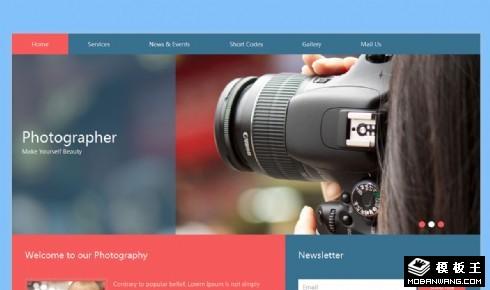 摄影师服务动态响应式网页模板