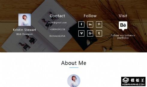 个人简历作品展示响应式网页模板