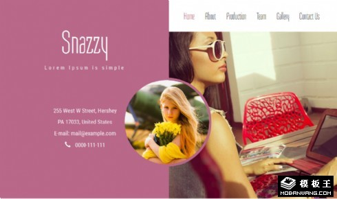 时尚写真展示响应式网页模板