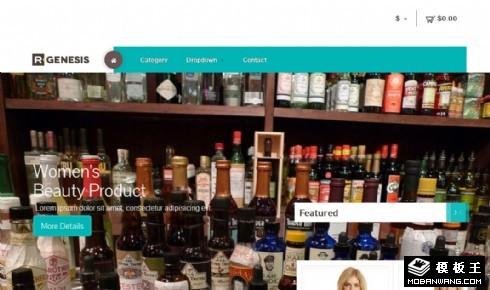 产品展示商务介绍响应式网页模板