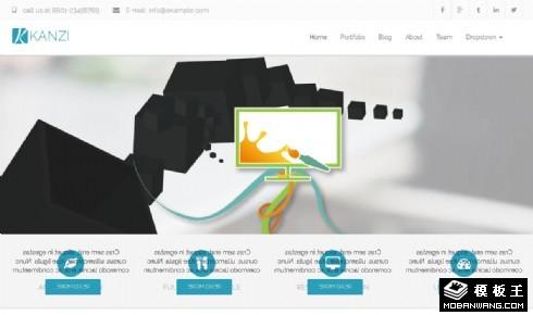 品牌创意设计服务响应式网页模板