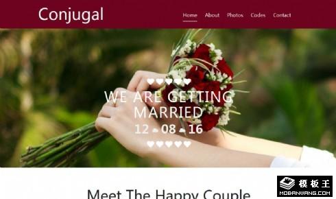 爱的记录婚姻响应式网页模板