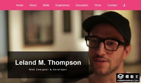 个人视频简历网页模板