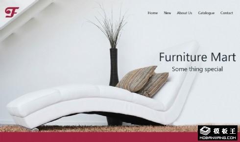 创意家具设计展示响应式网页模板