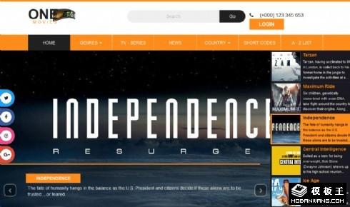 最新电影报道响应式网页模板