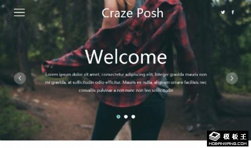 时尚产品服务响应式网页模板