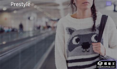 时尚造型风格响应式网页模板