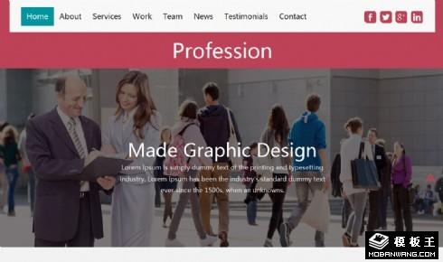 专业商务服务咨询响应式网页模板