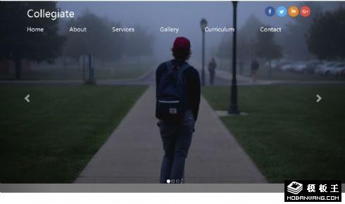 大学生活动服务介绍响应式网页模板