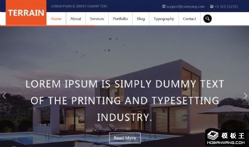 商务企业展示响应式网站模板
