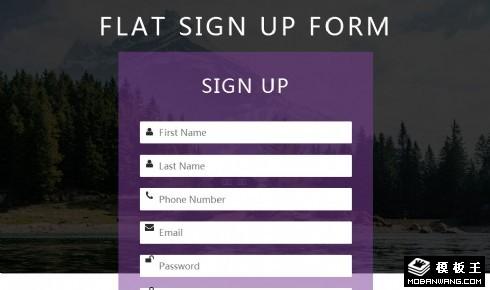 信息注册登记表单网页模板