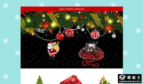 圣诞节快乐专题响应式网页模板
