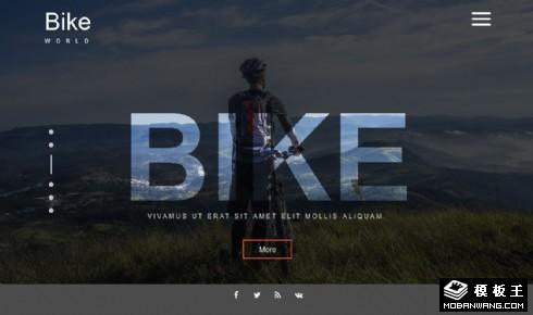 自行车世界动态响应式网页模板