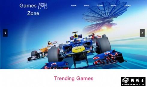 游戏项目开发企业响应式网站模板