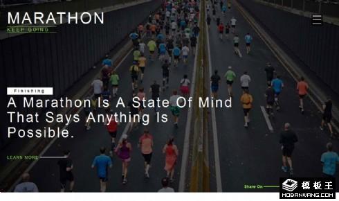 马拉松赛跑响应式网站模板