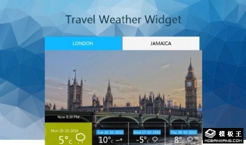 旅行天气预报组件响应式网页模板