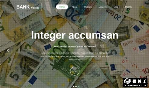 金融业务介绍响应式网站模板
