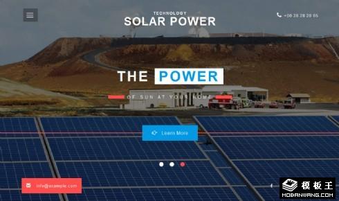 太阳能发电科技公司响应式网站模板