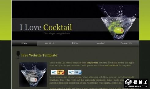 鸡尾酒产品动态网页模板