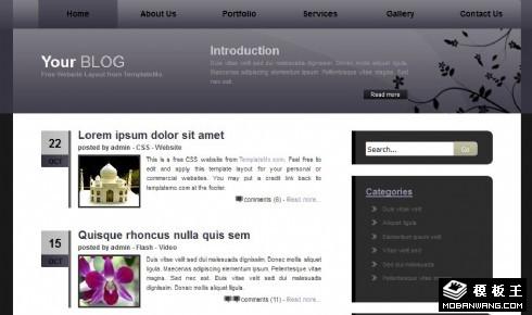 黑灰BLOG信息网页模板