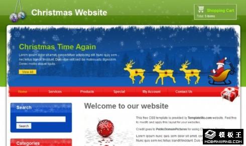 圣诞礼物产品介绍网页模板