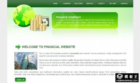 绿色金融产品动态网页模板