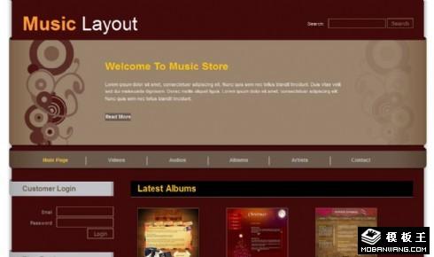 暗红音乐产品动态网页模板