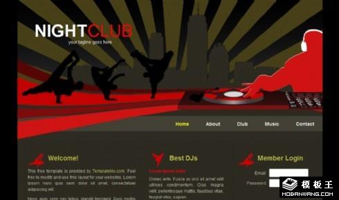夜场俱乐部网页模板