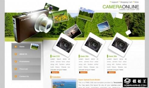 摄影在线介绍网页模板