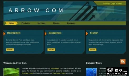 黑绿产品服务商务网页模板