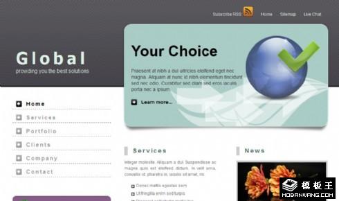 企业国际商务展示网页模板