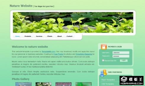 绿色自然风光展示网页模板
