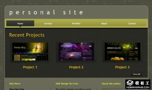 工作室服务信息展示网页模板