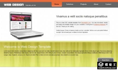 网站设计营销服务企业网页模板