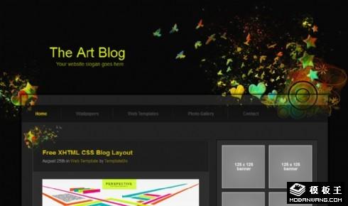 黑色抽象艺术BLOG网页模板