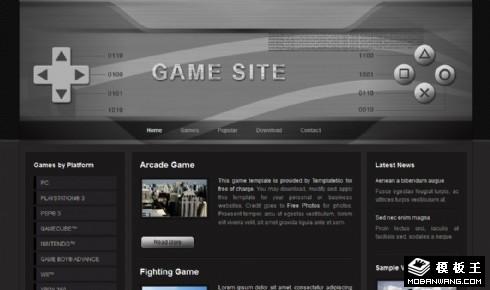 黑色游戏手柄界面网页模板