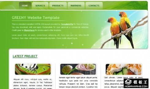 绿色自然生物信息网页模板