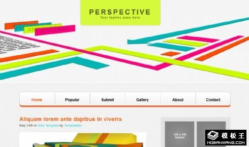 创意透视设计BLOG网页模板