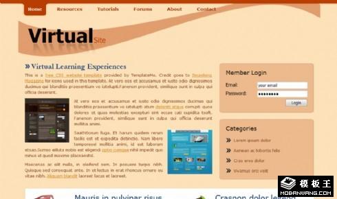 企业介绍服务网页模板
