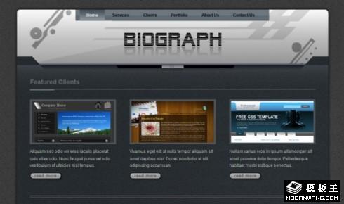 创意UI设计展示网页模板