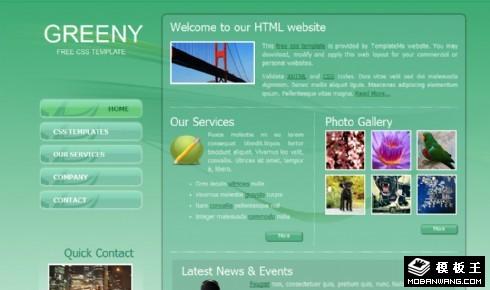 绿色信息服务动态网页模板